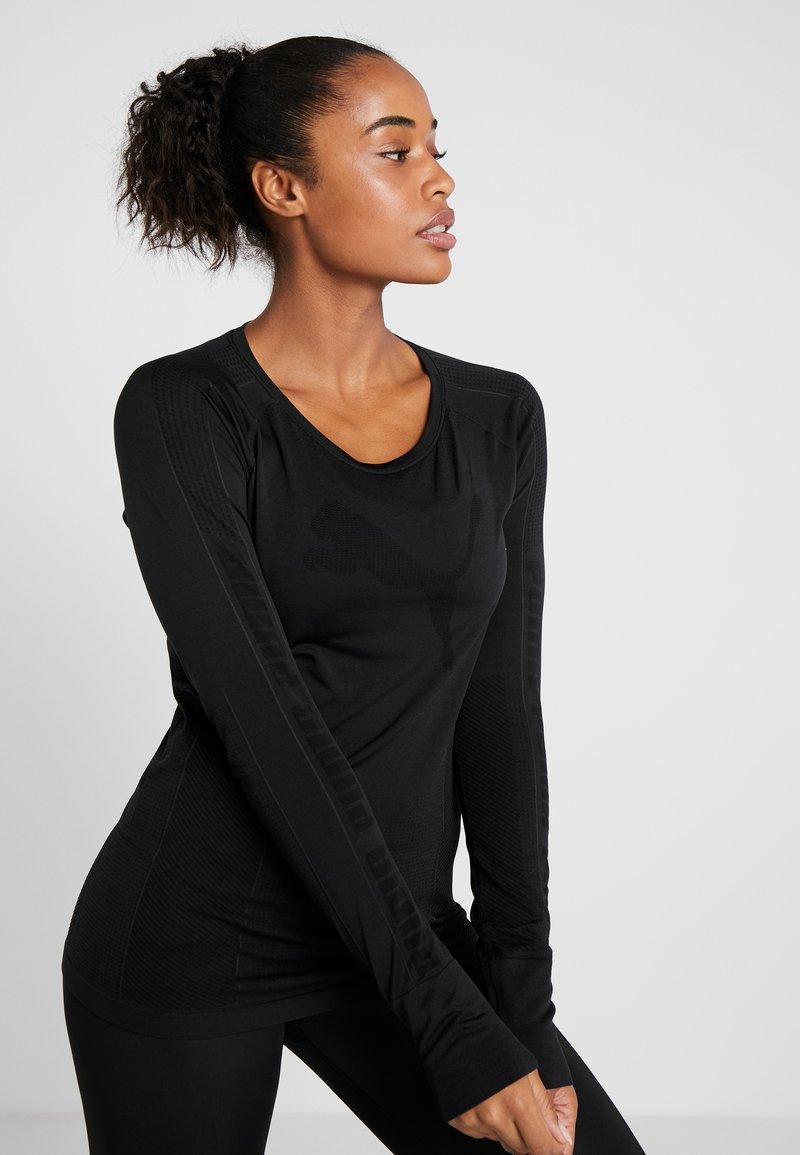 Puma - EVOKNIT SEAMLESS TOP - Langærmede T-shirts - black