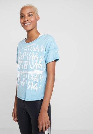 HIT FEEL IT TEE - T-shirts med print - milky blue