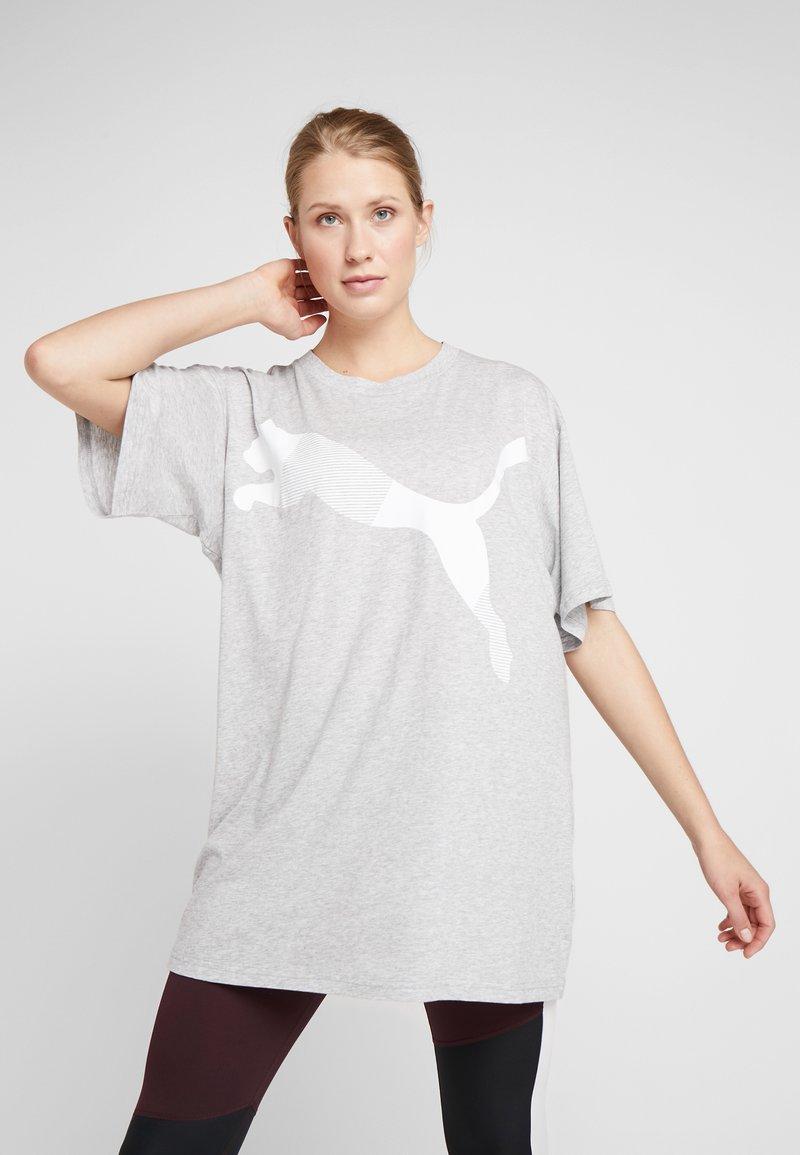 Puma - MODERN SPORT FASHION TEE - T-shirt imprimé - light gray heather