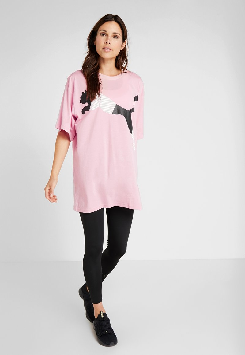 Puma - MODERN SPORT FASHION TEE - T-Shirt print - bridal rose