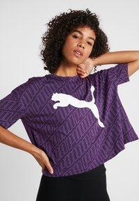 Puma - MODERN SPORT FASHION TEE - T-shirt con stampa - plum purple - 4