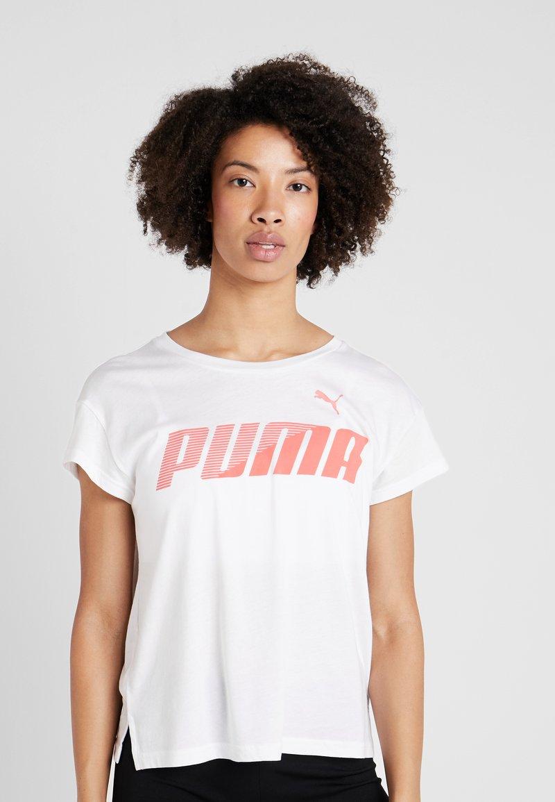 Puma - MODERN SPORT GRAPHIC TEE - Camiseta estampada - white