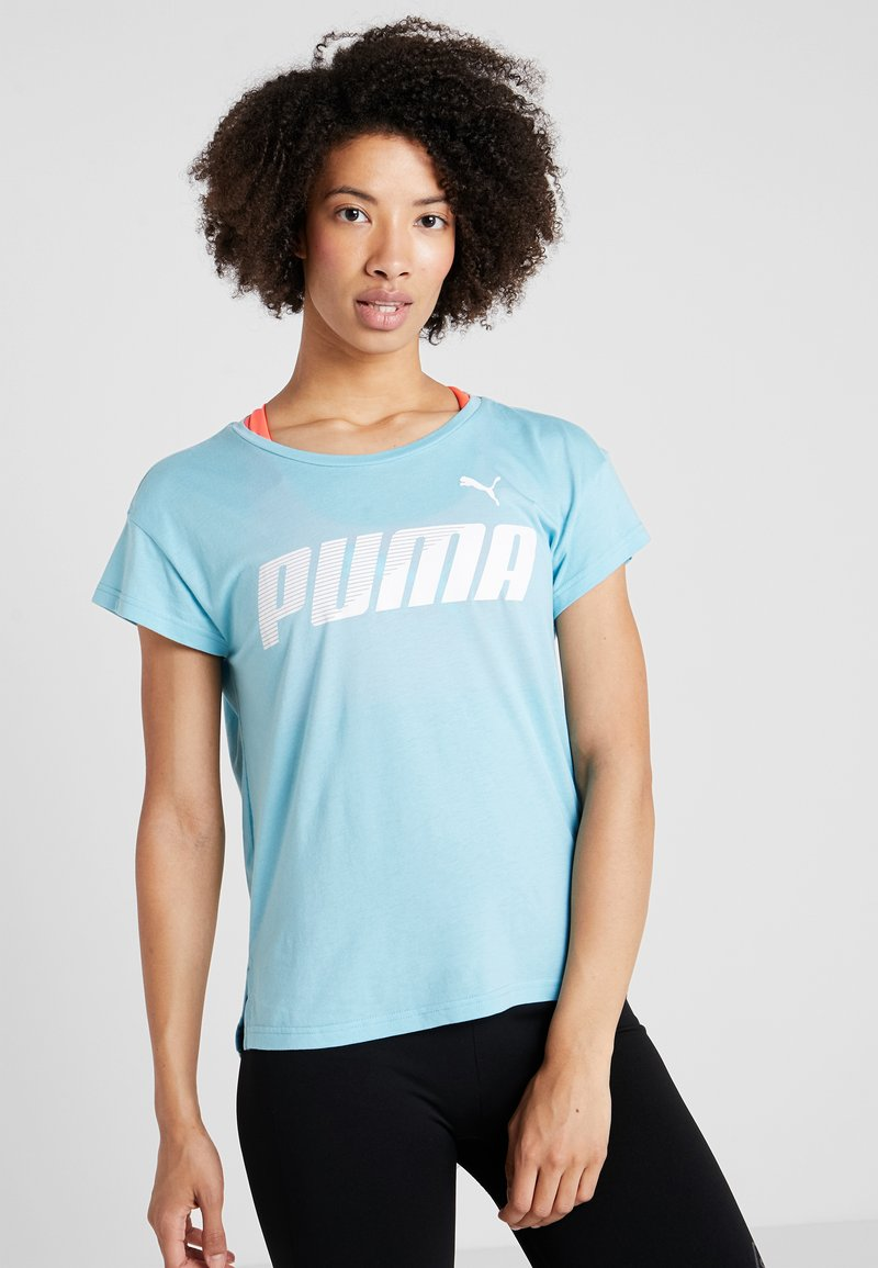 Puma - MODERN SPORT GRAPHIC TEE - T-shirt con stampa - milky blue