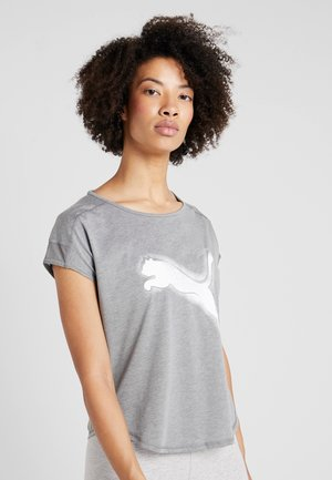 STUDIO CAT TEE - T-shirt imprimé - medium gray heather