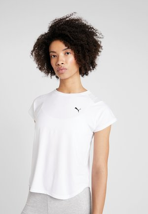 STUDIO TEE - Print T-shirt - puma white
