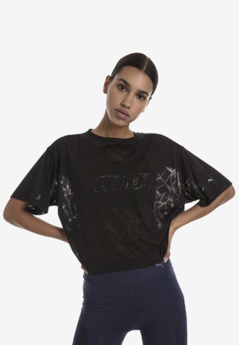 Puma - T-shirt med print - puma black heather