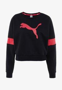 Puma - LOGO PACK CREW - Felpa - cotton black - 3