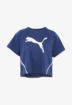 PAMELA  REIF X PUMA BOXY TEE - T-shirts med print - blue depths