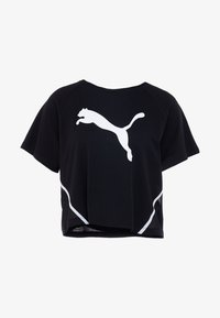 Puma - PAMELA  REIF X PUMA BOXY TEE - T-shirts med print - black - 3