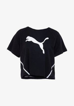 PAMELA  REIF X PUMA BOXY TEE - T-shirt med print - black