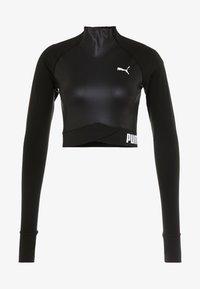 Puma - PAMELA  REIF X PUMA LS CROP TOP - Långärmad tröja - black - 4