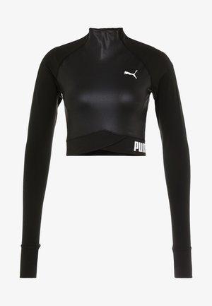 PAMELA  REIF X PUMA LS CROP TOP - Top sdlouhým rukávem - black