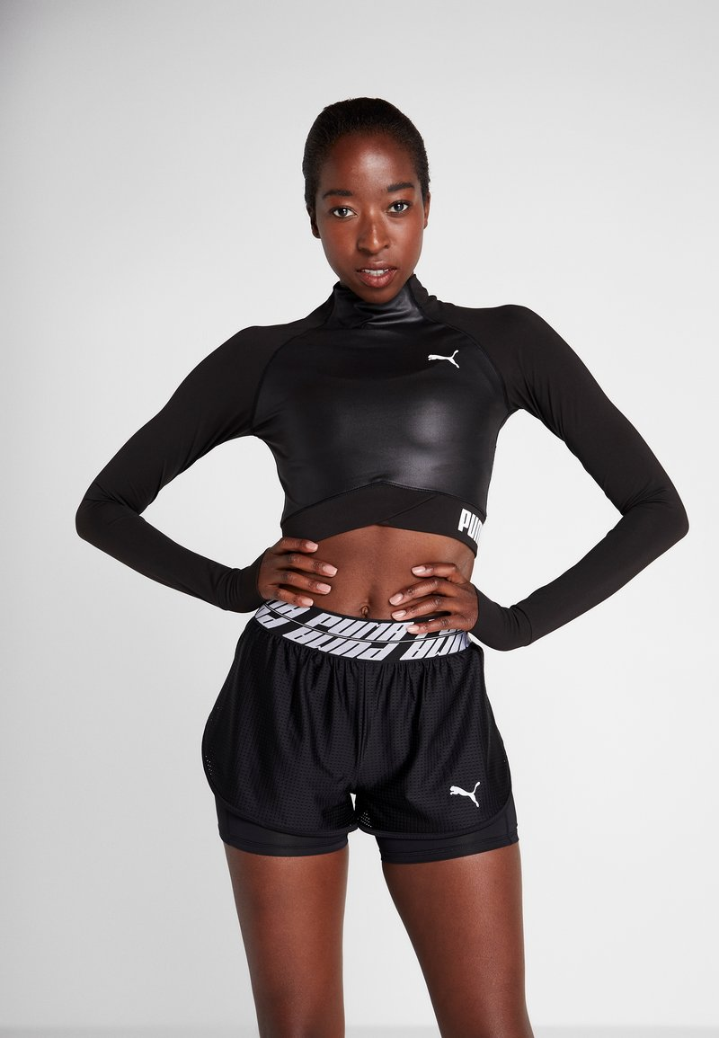 Puma - PAMELA  REIF X PUMA LS CROP TOP - Long sleeved top - black