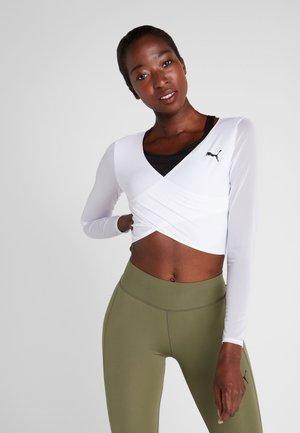 PAMELA REIF X PUMA CROPPED LS TOP - Treningsskjorter - white