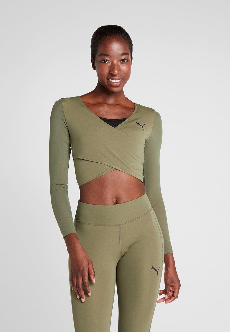 Puma - PAMELA REIF X PUMA CROPPED LS TOP - Sports shirt - four leaf clover
