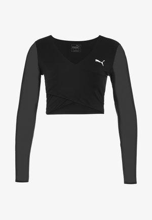 PAMELA REIF X PUMA CROPPED LS TOP - Camiseta de deporte - black