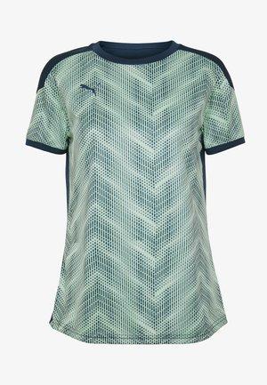GRAPHIC - T-shirt z nadrukiem - dark denim/mist green
