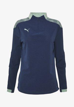 FTBLNXT 1/4 ZIP - Treningsskjorter - dark denim/mist green