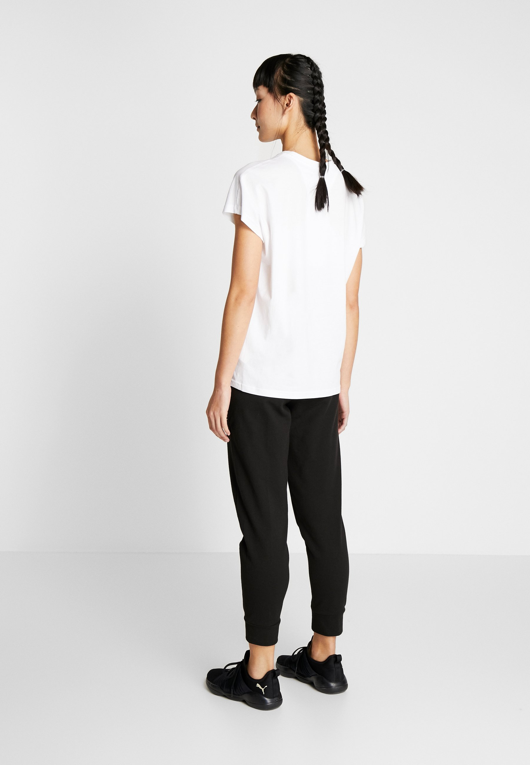 Puma NU TILITY TEE - T-shirts med print - puma white