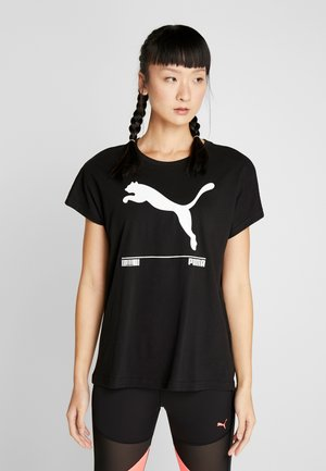 NU TILITY TEE - Print T-shirt - black