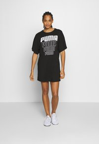 Puma - REBEL LIGHT WEIGHT TEE DRESS - Vestido de deporte - black - 0