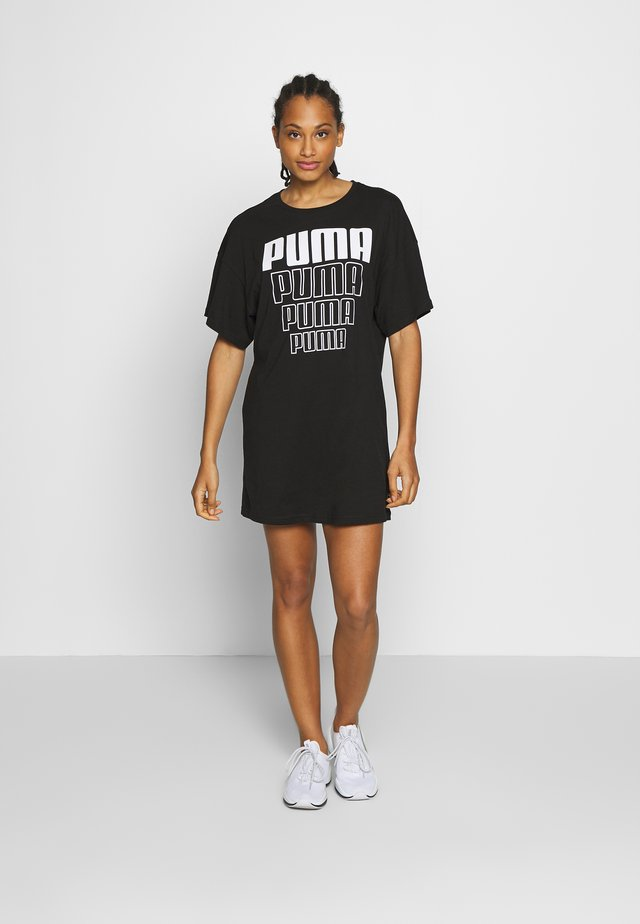 REBEL LIGHT WEIGHT TEE DRESS - Sportovní šaty - black