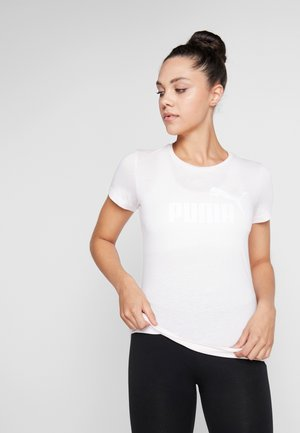 LOGO HEATHER TEE - T-shirt imprimé - rosewater