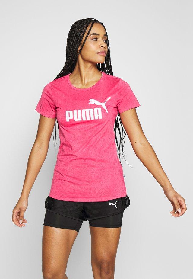 LOGO HEATHER TEE - T-shirt imprimé - bright rose