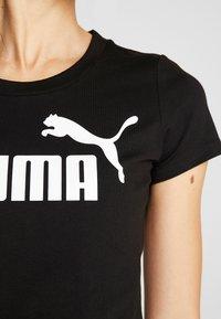 Puma - FITTED TEE - Print T-shirt - puma black - 5