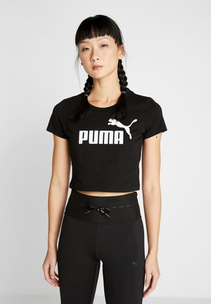 FITTED TEE - T-shirt imprimé - puma black