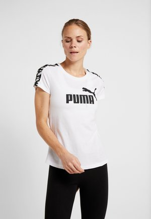 AMPLIFIED TEE - T-shirt z nadrukiem - puma white