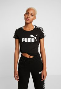 Puma - AMPLIFIED TEE - T-shirt con stampa - black - 0