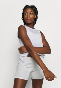 Puma - STUDIO CROP LACE TANK - Top - puma white - 0