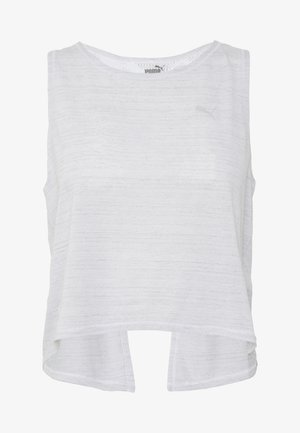 STUDIO CROP LACE TANK - Topper - puma white