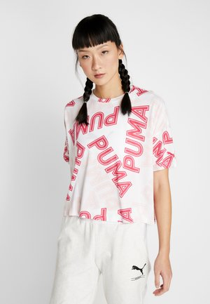 MODERN SPORTS FASHION TEE - T-shirt med print - white/bright rose