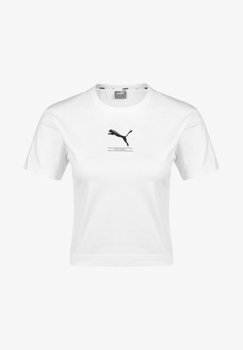 Puma - NU-TILITY FITTED TEE - T-shirt con stampa - white