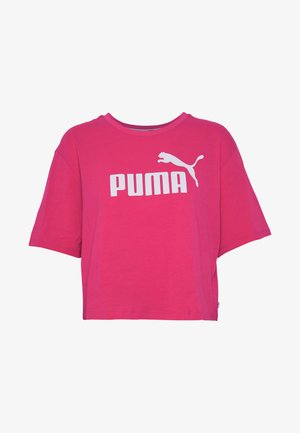 CROPPED LOGO TEE - T-shirt con stampa - bright rose