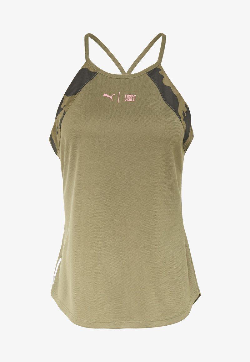 Puma - THE FIRST MILE TANK - Sports shirt - burnt olive