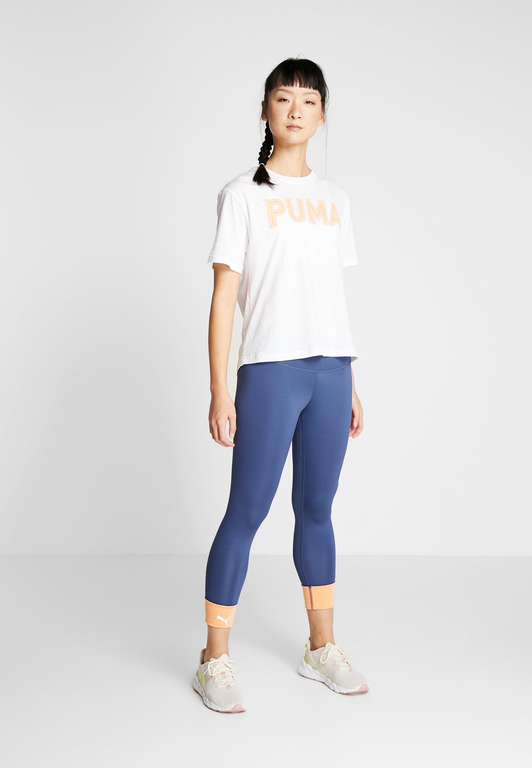 Puma Modern Sports Logo Tee - Print T-shirt White/cantaloupe