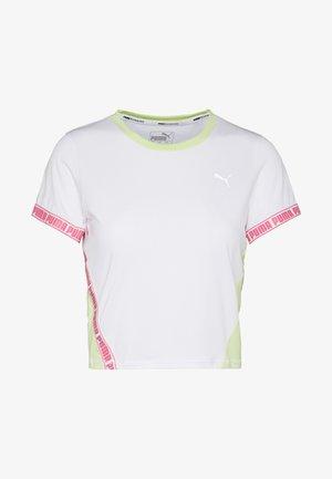 LAST LAP CROPPED TEE - T-shirt z nadrukiem - white