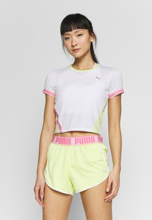 LAST LAP CROPPED TEE - Printtipaita - white