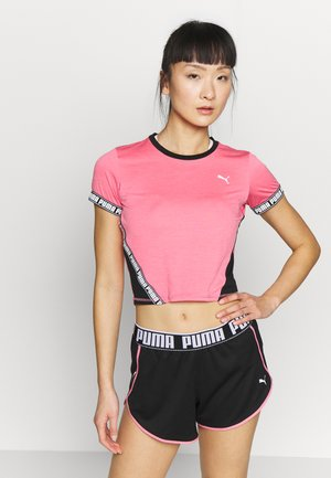 LAST LAP CROPPED TEE - Camiseta estampada - bubblegum heather