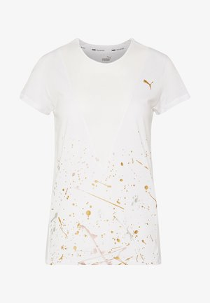 METAL SPLASH DEEP TEE - T-Shirt print - white