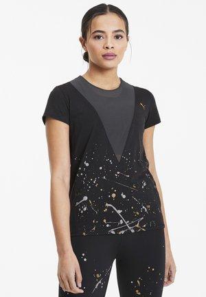 METAL SPLASH DEEP TEE - Print T-shirt - black