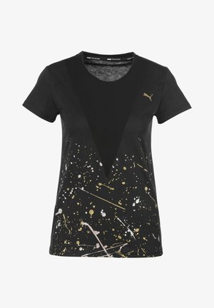 METAL SPLASH DEEP TEE - T-Shirt print - black