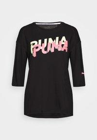 Puma - MODERN SPORTS FASHION TEE - Print T-shirt - black - 4
