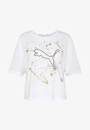 METAL SPLASH GRAPHIC TEE - T-shirt imprimé - puma white