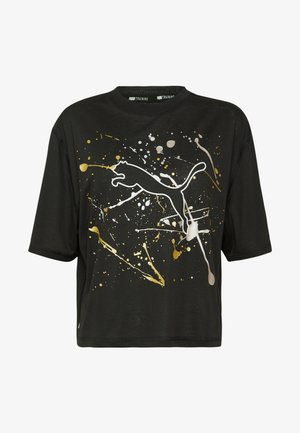 METAL SPLASH GRAPHIC TEE - Camiseta estampada - black