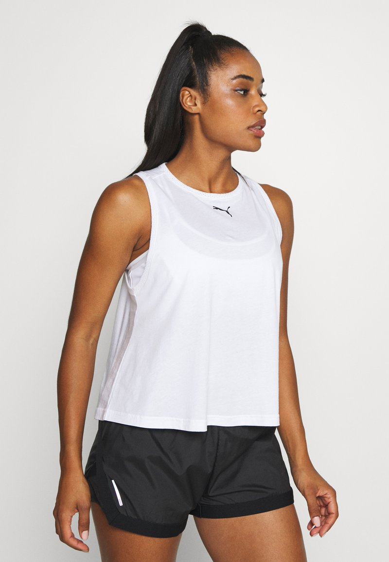 Puma - MODERN SPORTS TANK - Sports shirt - white