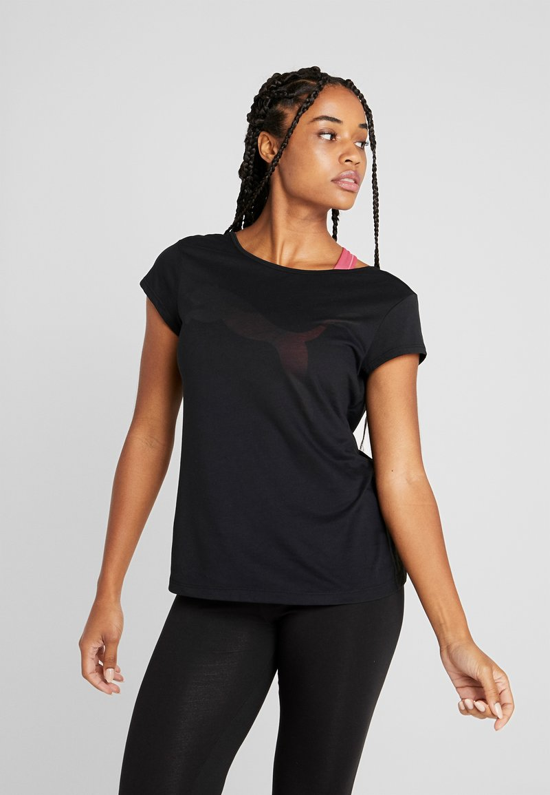 Puma - SOFT SPORTS TEE - T-shirt z nadrukiem - black